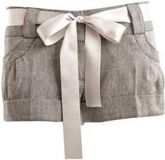 ShopStyle: Miso Linen Ribbon Detail Shorts