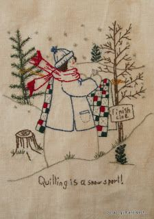 Scrap,quilt and stitch: Quilting is a snow sport
