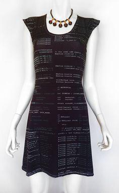 Computer Code Dress, $129