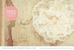 It's DIY day here on the Pretty Blog and to continue our series, we have created 3 new calendars for your Desktop, iPad, and iPhone. So here they are August, September and October 2012.