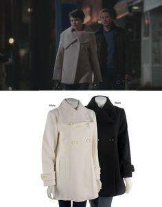 You can achieve a similar look to Mary Margaret with this Anne Klein Double-Breasted Wool Coat - available at http://www.overstock.com/Clothing-Shoes/Anne-Klein-Double-breasted-Wool-Coat/2573966/product.html?SID=-1908974343;=1992680=10906445