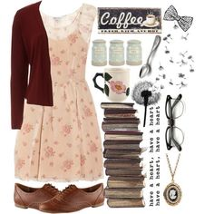 A fashion look from november 2013 featuring loose mini dress, polyester cro Dress Outfits, Casual Outfits, Cute Outfits, Fashion Outfits, Vintage Outfits, Vintage Fashion, Estilo Hippie, Mein Style, Cute Fashion