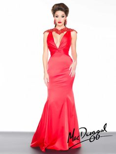 Black White Red by Mac Duggal Style 48145R now in stock at Bri'Zan Couture, www.brizancouture.com