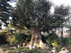 This beautiful tree is telling stories about Red Hood, Rapunzel and many more characters. At the Efteling Theme Park in Holland.