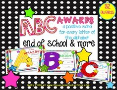 AWARDS....End of the School Year