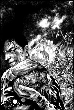 Miracleman #15 cover by John Totleben