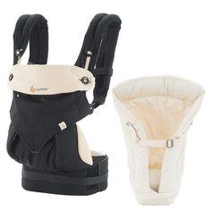 Komforttrage inkl. Neugeboreneneinsatz. Für Bauch-, Rücken und Hüfttrageweise sowie für die Fronttrageweise.