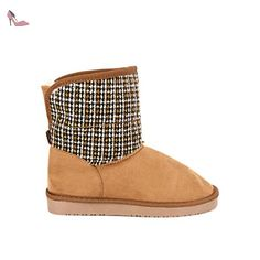 Cendriyon, Boots fourrées Camel UGTA Chiné Chaussures Femme Taille 41 - Chaussures cendriyon (*Partner-Link)