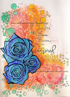 ART JOURNAL PAGE | LIVE INSPIRED | Nika In Wonderland Art Journaling and Mixed Media Tutorials