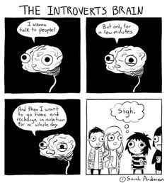 The Introvert's Brain by Sarah Andersen