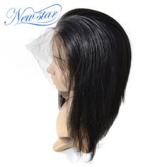172.26$  Buy now - http://ali6tm.worldwells.pw/go.php?t=32699615065 - New Star Brazilian Straight Virgin Hair Pre Plucked Wigs Glueless Full Lace Wigs Human Hair With Baby Hair For Black Women