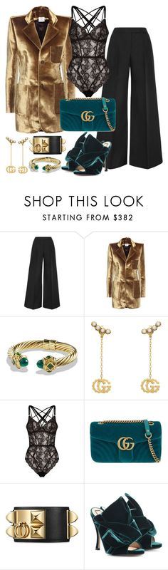 """""""Untitled #84"""" by s-soprano on Polyvore featuring Antonio Berardi, Vetements, David Yurman, Gucci, Agent Provocateur and N°21"""