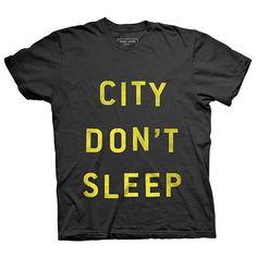 NYC City Don't Sleep Tshirt Black