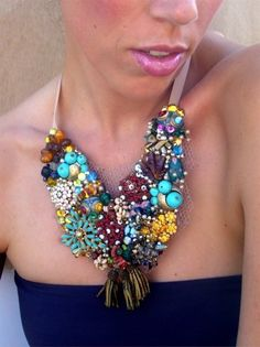 Bib necklace on Pinterest | Bib Necklaces, Statement Necklaces and ...