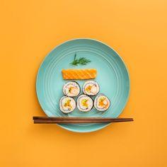 Food Graphic Design, Food Design, Flat Lay Photography, Food Photography, Sushi Pictures, Sake Sushi, Restaurant Ad, Fresh Sushi, Sushi Art