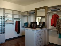 The 2010 HGTV Dream Home master closet is perfect for the clothes horse. With dedicated shoe storage, plenty of room for linens, hanging racks, shelves and drawers everywhere, this closet is a storage dream.
