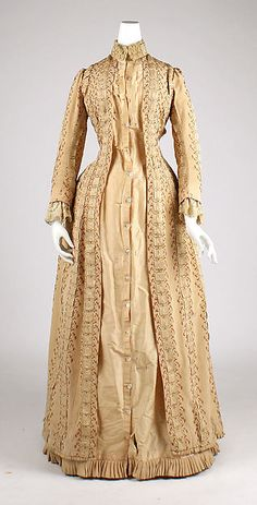 Tea gown from the House of Worth, circa 1880. The tea gown is one of the more…