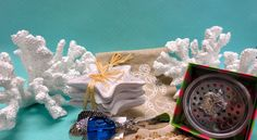turtle drain stopper $20.00, 3 starfish bowl set $24.00, Coral decor pieces $25.00 each, and blue fish spreader $15.99