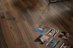 """6"""" x 40"""" wood look floor tile in chocolate brown is rich and sophisticated. Available at Pembroke Tile & Stone www.pts.bm"""