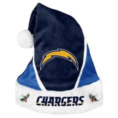NFL 2014 Colorblock Santa Hat San Diego Chargers