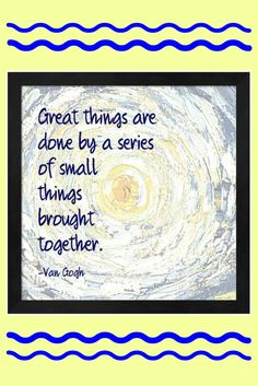 Small actions lead to great results!   motivational art | gratitude art | inspirational art #affiliatelink