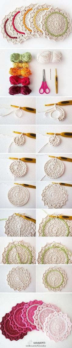 Stylish Two Color Coasters | Crochet Kingdom