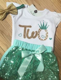 Second Birthday Outfit Girl Peach And Gold | Birthdays, Babies and ...