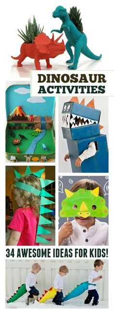 34 AWESOME DINOSAUR ACTIVITIES FOR KIDS- my little dinosaur fan is going to LOVE these!!!