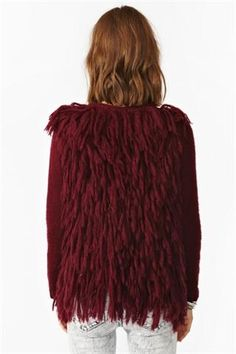 Feathered Knit Cardi
