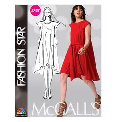 6-8-10-12-14 Size A5 McCall M6694 Misses/' Pullover with Loose Bodice Dresses
