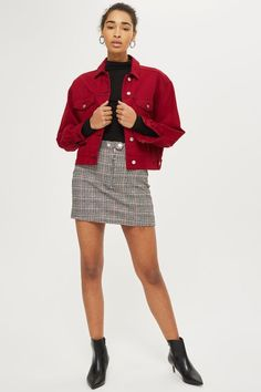 562d1c840840d Checked Mini Skirt - Clothing- Topshop Europe Mini Skirts