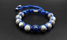Men's Gemstone Bracelet Jasper Bracelet Lapis Lazuli