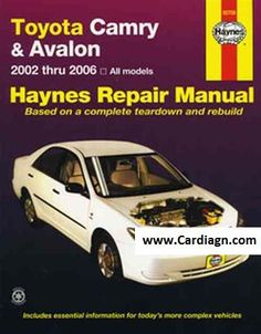 1995 toyota camry owners manual book guide owners manuals pinterest toyota camry avalon 2002 2006 haynes owners service repair manual covers toyota camry from 2002 to 2006 and the mechanically similar avalon fandeluxe Image collections