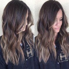 Ideas Hair Color Ideas For Brunettes Balayage Sun Kissed Ash Blonde Subtle Balayage Brunette, Hair Color Ideas For Brunettes Balayage, Brunette Hair, Balayage Hair, Babylights Brunette, Baylage, Ash Blonde, Blonde Hair, Hair Color And Cut