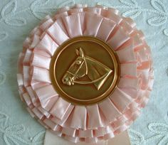 vintage horse show ribbon in pink
