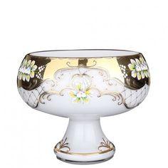 Large Gold Finish Glazed Blowglass Fruit Bowl