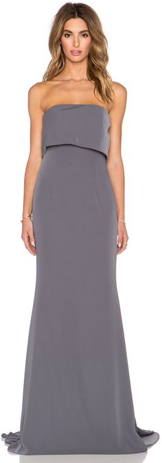 Shop for JARLO Blaze Maxi Dress in Grey at REVOLVE. Free day shipping and returns, 30 day price match guarantee. Designer Bridesmaid Dresses, Bridesmaid Ideas, Bridesmaids, Dress Outfits, Dress Up, Strapless Dress Formal, Formal Dresses, Frack, Costume