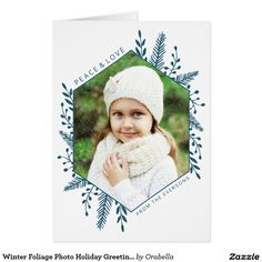 Shop Winter Foliage Photo Holiday Greeting Card created by Orabella.