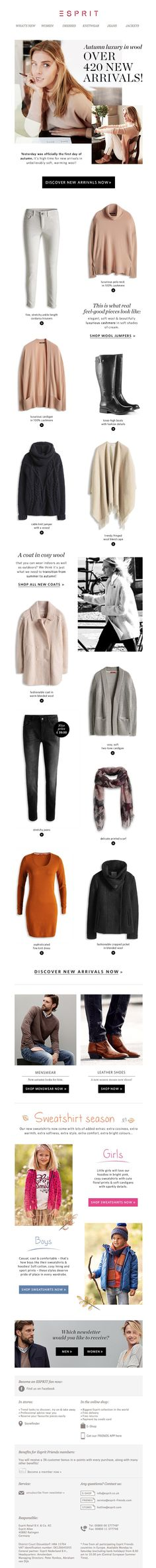 #newsletter UO 10.2014 We have over 420 new arrivals – start the autumn in luxurious wool!