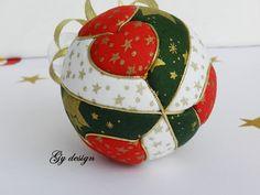 Ornamento de la Navidad de Hart kimekomi ornamento de por Gydesi