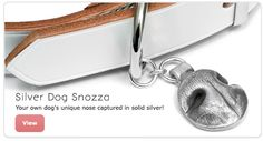 Your own dog's (or cat's) unique nose captured in solid silver- Is there something like this in the States? SO CUTE!!