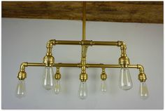 Hampton Seven Light Iron Chandelier Finished in by 9thAveIronWorks
