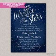 Written In The Stars Wedding Invitation - Printable/Digital Invitation on Etsy, $50.00