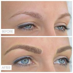 Eyebrow Tattoo In Hair Stroke Technique Pictures to pin on Pinterest