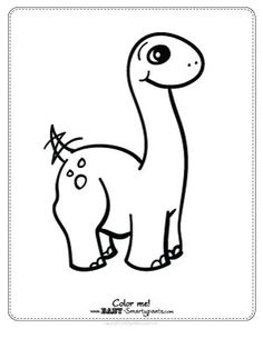 free coloring page cute baby dinosaur - Cute Baby Dinosaur Coloring Pages