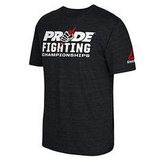 UFC Men's Pride Fist 2 Tri-blend Short Sleeve Tee, Small, Black Heather