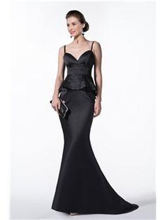 Elegant Trumpet Mermaid Emboridery Sweep Train Floor Length Evening Formal Dress