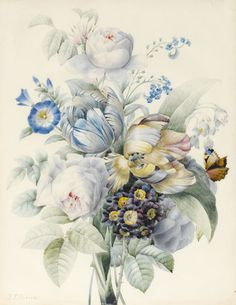 indigodreams:  A Bunch of Flowers, by Pierre Joseph Redoute