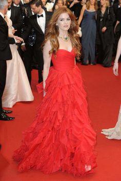 Isla Fisher de Oscar de la Renta - Festival de Cannes 2013
