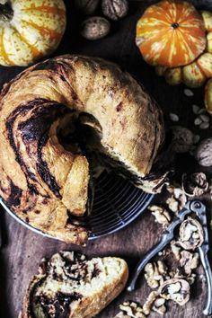 chocolate walnut and pumpkin babka